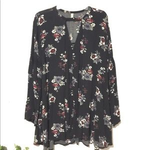 Free People Floral Tunic Sz M